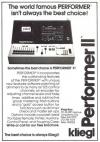 Advert: Performer II (Theatre Design and Technology, 1980)