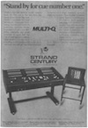 Multi-Q Advert (Summer 1977) Theatre Design and Technology)