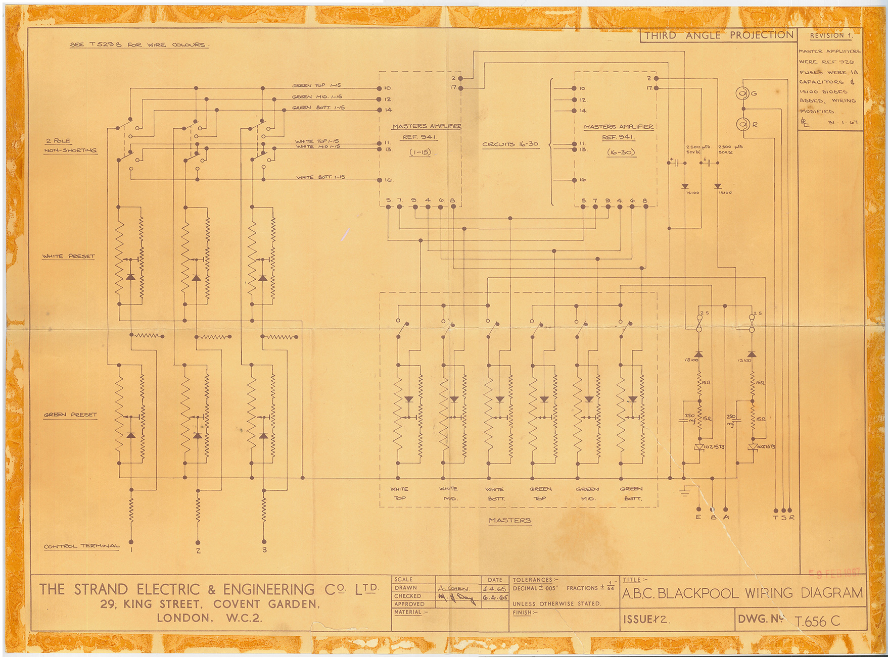Uk Blackpool Abc Cinema 2 Pole Schematic Wiring Diagram Archive Equipment Related To Over The Years