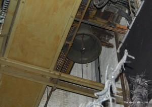 Bell hanging upstage left (seen in 2009)