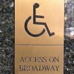 Access on Broadway sign (c) Theatrecrafts.com