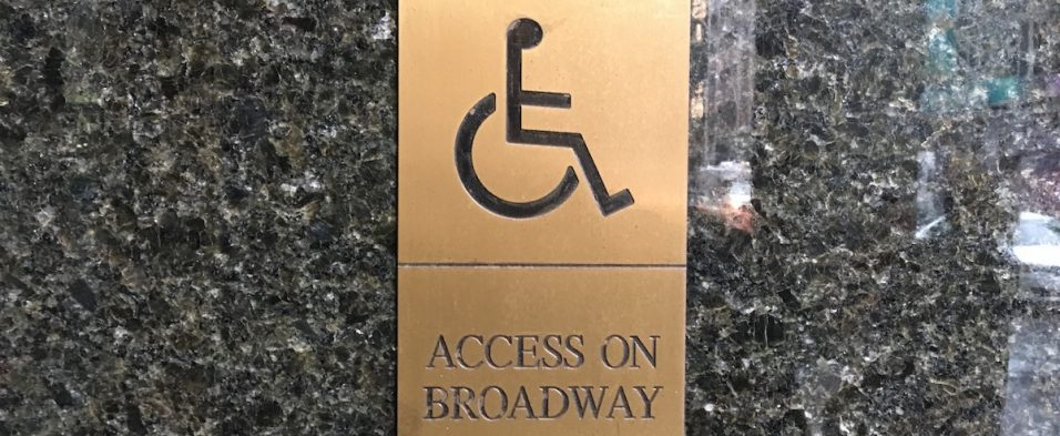 Access on Broadway sign (c) Theatrecrafts.com