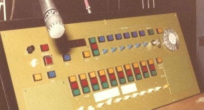 1980s SM Desk at the Northcott Theatre, Exeter, with GPO switches (from Cueline magazine, December 2012)