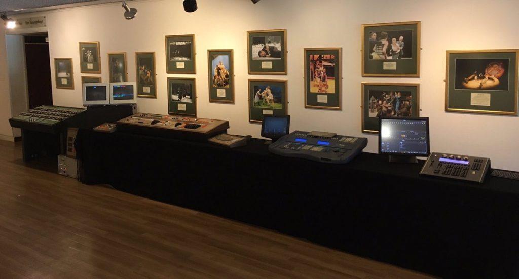 Clwyd Theatr Cymru - Lighting Evolution exhibition - photo courtesy Gareth Hughes