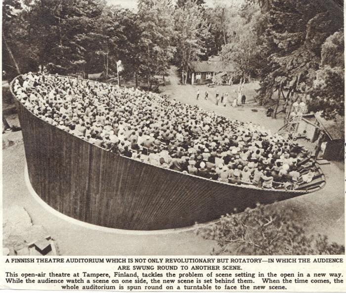 Tampere Outdoor Theatre in the 1950s