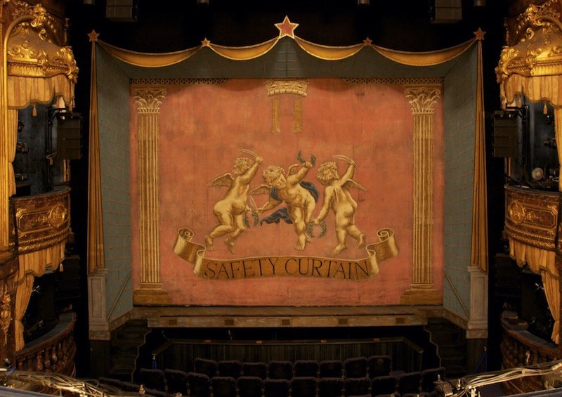 Safety Curtain at the Theatre Royal Haymarket, London (From the Flickr page)