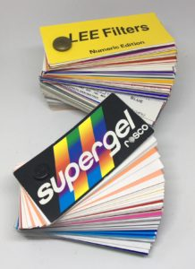 Gel Swatch Books - Rosco Supergel and Lee Filters