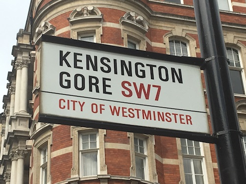 Kensington Gore street sign (Theatrecrafts.com 2006)